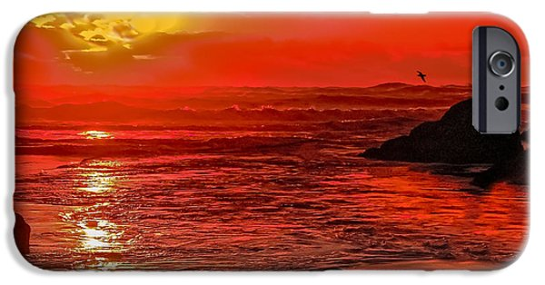 Cape Disappointment iPhone Cases - Beach Sunset iPhone Case by Robert Bales