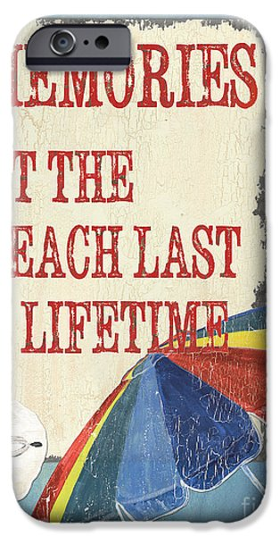Memories iPhone Cases - Beach Time 3 iPhone Case by Debbie DeWitt