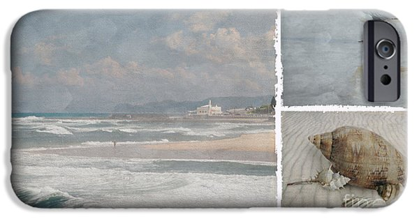Lindalees iPhone Cases - Beach Triptych 1 iPhone Case by Linda Lees