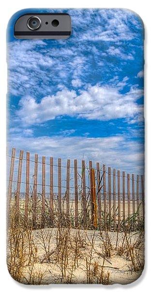 Beach Under Blue Skies iPhone Case by Debra and Dave Vanderlaan