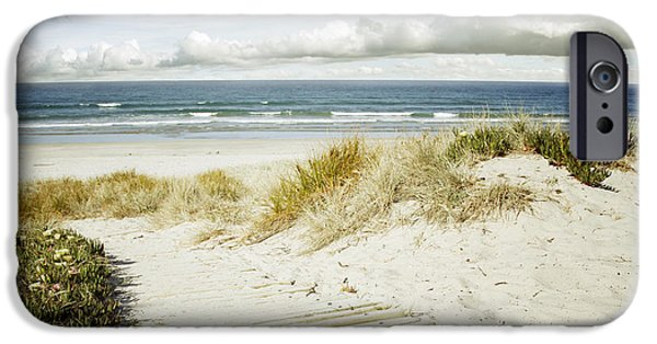 Evening iPhone Cases - Beach view iPhone Case by Les Cunliffe