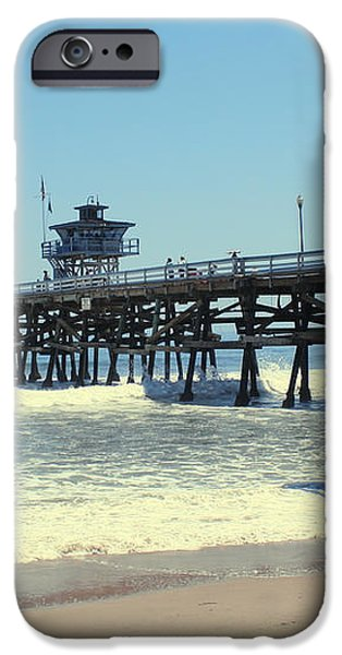 Beach View With Pier 1 iPhone Case by Ben and Raisa Gertsberg