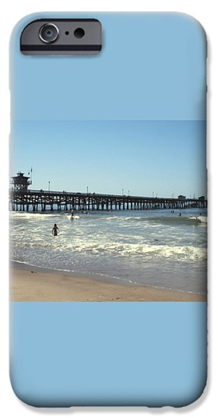 Beach View With Pier 2 iPhone Case by Ben and Raisa Gertsberg