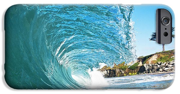 Santa Cruz Surfing iPhone Cases - Beach Wave iPhone Case by Paul Topp