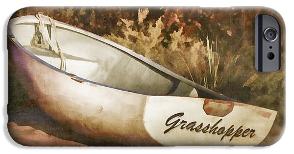 Martha iPhone Cases - Beached Rowboat iPhone Case by Carol Leigh