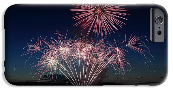 Pyrotechnics iPhone Cases - Beachfest Fireworks 2013 iPhone Case by Randy Hall