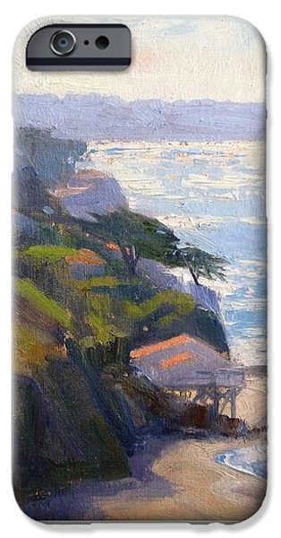 Malibu Paintings iPhone Cases - Beachfront iPhone Case by Sharon Weaver