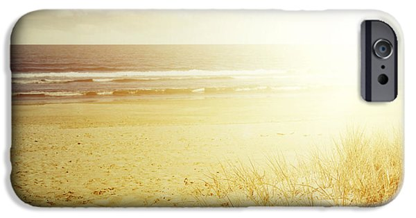 Moody Beach iPhone Cases - Beachlight iPhone Case by Les Cunliffe