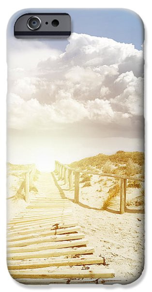 Pathway iPhone Cases - Beachwalk iPhone Case by Les Cunliffe