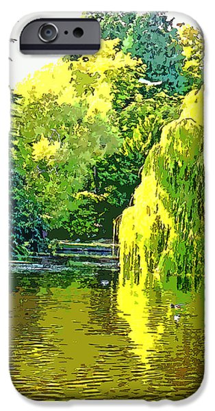 Recently Sold -  - Willow Lake iPhone Cases - Beacon Hill Park Serenity iPhone Case by Paul Price