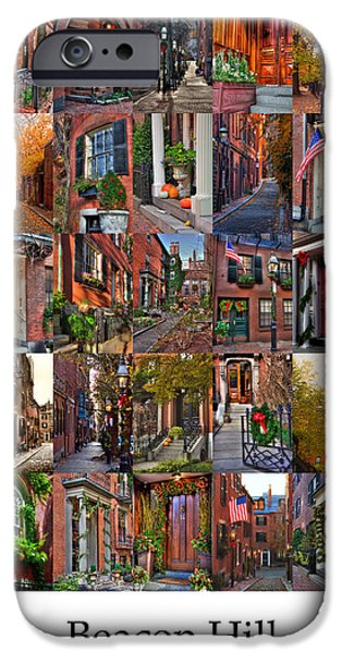 Massachusetts Autumn Scenes iPhone Cases - Beacon Hill - Poster iPhone Case by Joann Vitali