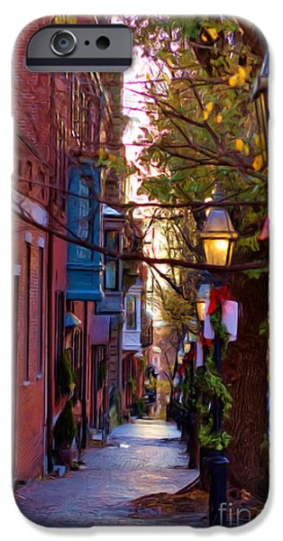 Joann Vitali iPhone Cases - Beacon Hill Streets iPhone Case by Joann Vitali