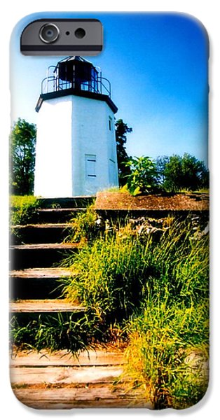 House Art iPhone Cases - Beacon Steps  iPhone Case by Iconic Images Art Gallery David Pucciarelli
