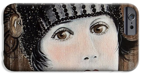 Seductive iPhone Cases - Beaded Flapper Hat iPhone Case by Barbara Chase