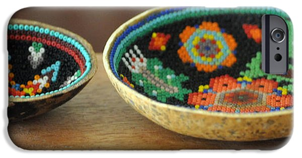 Basket iPhone Cases - Beaded Indian Baskets iPhone Case by Jay Milo