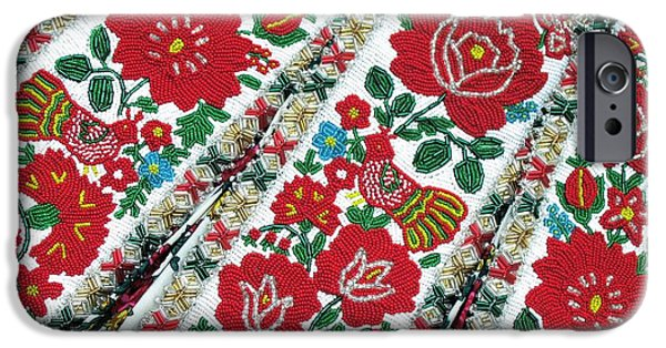 Andrea Lazar iPhone Cases - Hungarian Beaded Emboidery from Kalotaszeg Photograph Print iPhone Case by  Andrea Lazar