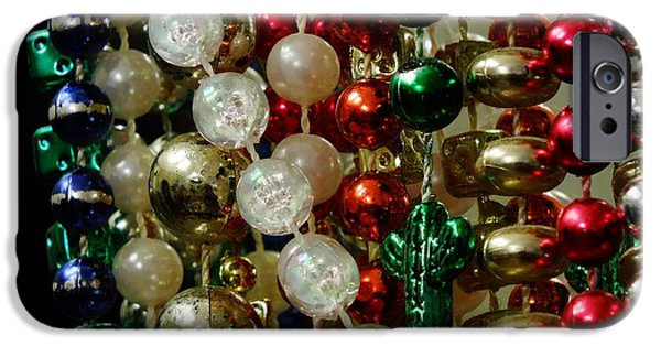 Jewelry Greeting Cards iPhone Cases - Beads iPhone Case by Chandra Nyleen