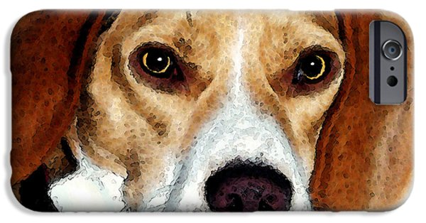 Beagles iPhone Cases - Beagle Art - Eagle Boy iPhone Case by Sharon Cummings