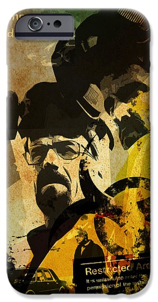 Bad Ass iPhone Cases - Breaking Bad poster iPhone Case by Albert Lewis