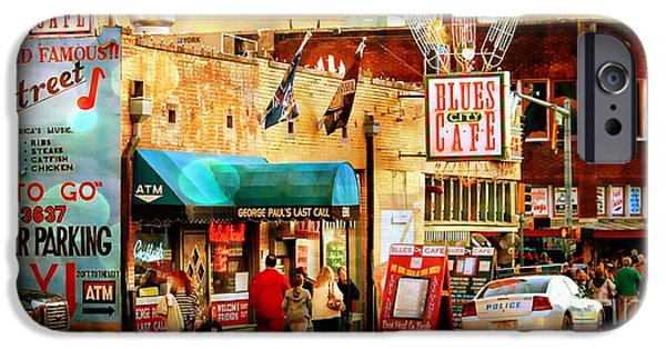 Las Cruces Digital iPhone Cases - Beale Street iPhone Case by Barbara Chichester