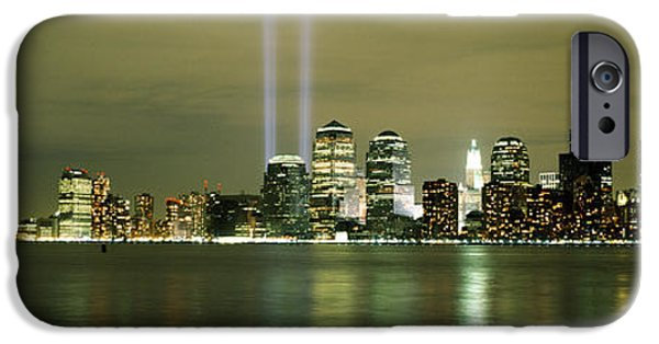 Resilience iPhone Cases - Beams Of Light, New York, New York iPhone Case by Panoramic Images