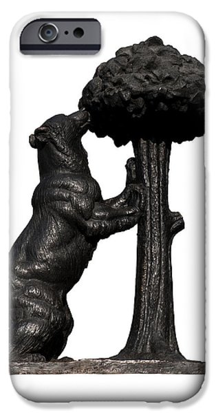 Cut-outs iPhone Cases - Bear and the Madrono Tree iPhone Case by Fabrizio Troiani