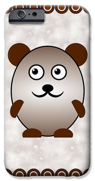 Girl iPhone Cases - Bear - Animals - Art for Kids iPhone Case by Anastasiya Malakhova