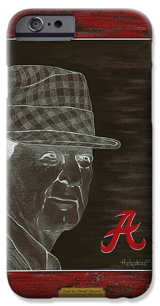 Bear Bryant iPhone Case by Herb Strobino