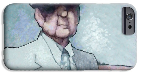Bryant Drawings iPhone Cases - Bear iPhone Case by Jerrett Dornbusch
