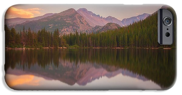 Sunset Framed Prints iPhone Cases - Bear Lake Sunset Reflections iPhone Case by Darren  White