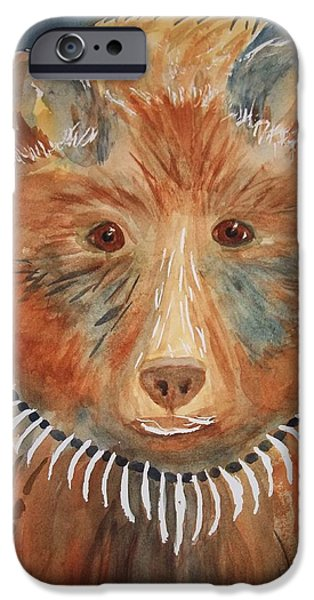 Bear Medicine iPhone Case by Ellen Levinson