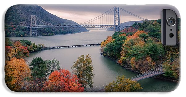 Hudson River iPhone Cases - Bear Mountain Bridge iPhone Case by Joan Carroll