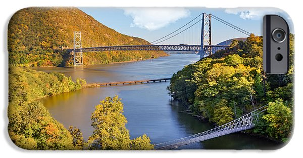 Fall iPhone Cases - Bear Mountain Bridge iPhone Case by Susan Candelario