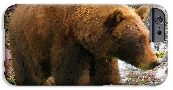 Yukon Territory iPhone Cases - Bear Necessities II iPhone Case by Doug Kreuger