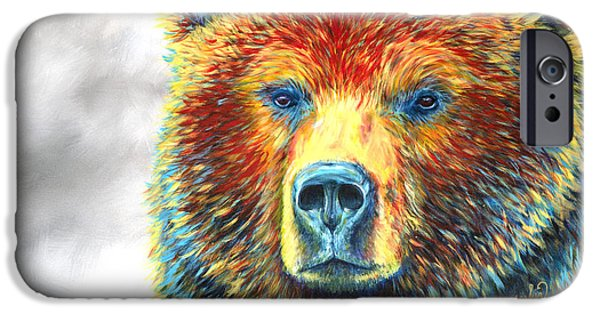 Mt iPhone Cases - Bear Thoughts iPhone Case by Teshia Art