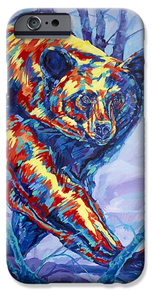 Fury iPhone Cases - Bear Walk iPhone Case by Derrick Higgins