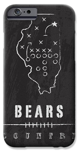 Soldier Field iPhone Cases - Bears Country 2 iPhone Case by Damon Gray