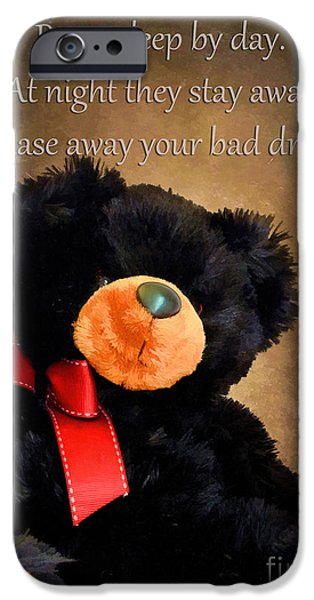 Teddybear iPhone Cases - Bears Sleep By Day iPhone Case by Darren Fisher