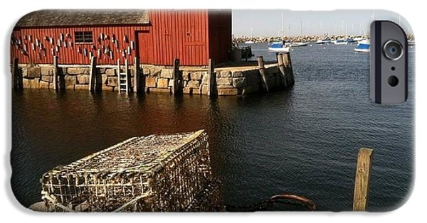 Old Barn iPhone Cases - Bearskin Neck ME iPhone Case by Barbara Chase