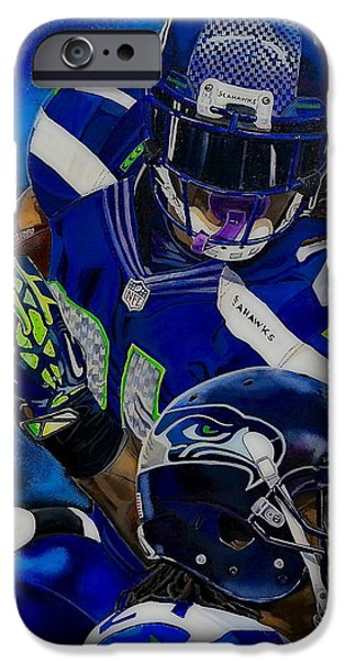 Nike Paintings iPhone Cases - Beast Mode iPhone Case by Chris Eckley
