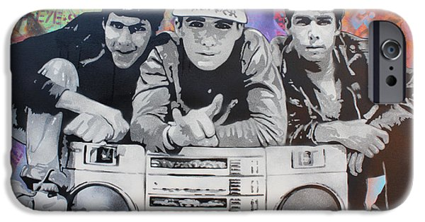 Stencil iPhone Cases - Beastie Boys iPhone Case by Josh Cardinali