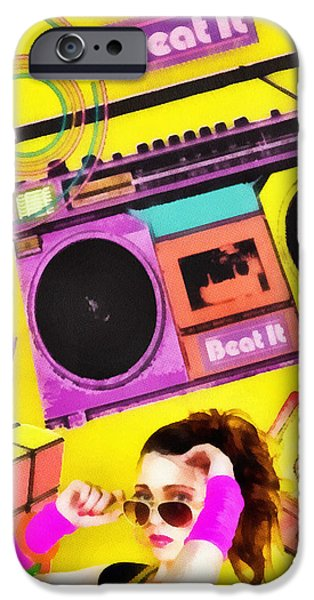 Beat it iPhone Case by Mo T