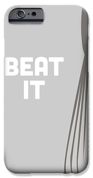 Beaters iPhone Cases - Beat It iPhone Case by Nancy Ingersoll