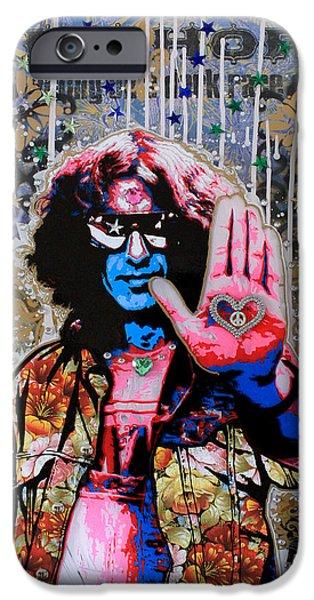 Beatles iPhone Cases - Beatle George iPhone Case by Gary Kroman