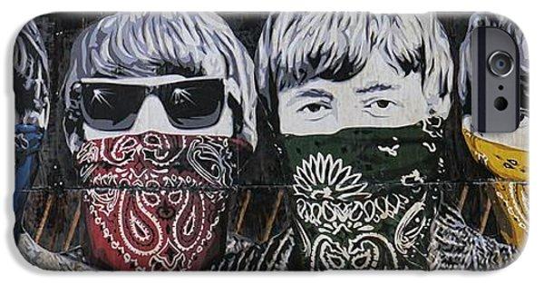 Beatles iPhone Cases - Beatles bandidos iPhone Case by Luigi Petro