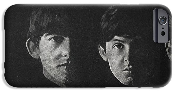 Beatles iPhone Cases - Beatles faces iPhone Case by Gina Dsgn