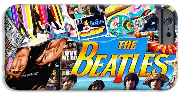 Mo T iPhone Cases - Beatles for Summer iPhone Case by Mo T