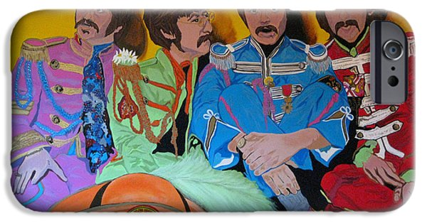 Collectible Mixed Media iPhone Cases - Beatles-Lonely Hearts Club Band iPhone Case by Bill Manson