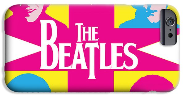 Beatles Digital Art iPhone Cases - Beatles Vinil Cover Colors Project No.01 iPhone Case by Caio Caldas