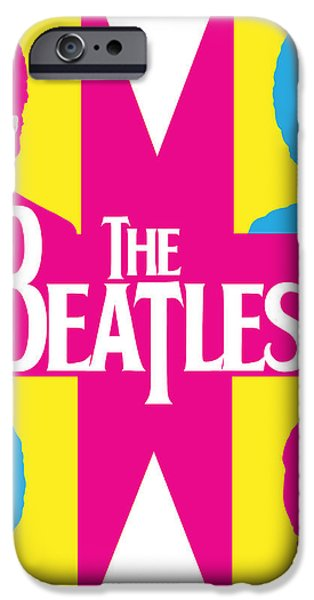 Beatles Vinil Cover Colors Project No.01 iPhone Case by Caio Caldas